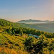 Blue ridge parkway morning — Stock Photo