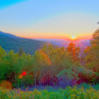 Blue ridge parkway early morning — Stock Photo #26910895