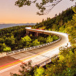 Stock Photo: Linn cove viaduct at night