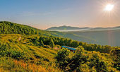Manhã de blue ridge parkway — Foto Stock