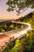 Linn cove viaduct at night — Stock Photo