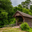 Old wooden covered bridge in alabama — Stock Photo