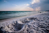 Sand structures on beach — Stock Photo