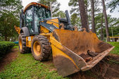 Front of backhoe — Stock Photo