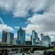 Stock Photo: Atlantcity skyline and highway traffic