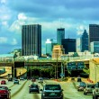 Atlanta city skyline and highway traffic — Stock Photo #27670271