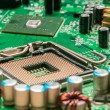 Circuit board background of computer motherboard — Stock Photo