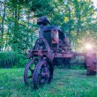 Old rusty agriculture farm tractor — Stock Photo #29705931