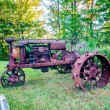 Stock Photo: Old rusty agriculture farm tractor
