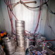Stock Photo: Beer kegs in refrigerator