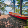Kayak by the water — Stock Photo