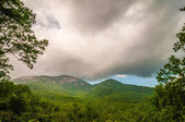 Table top mountain with stormy clouds in south carolina — Stock Photo