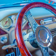 Classic car steering wheel dashboard — Stock Photo