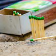 Green matches — Stock Photo