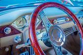 Cruscotto volante auto d'epoca — Foto Stock
