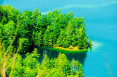 Birds eye view of lake jocassee landscapes — Stock Photo