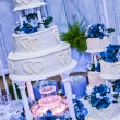 Wedding cake with fountain — Stock Photo
