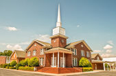 Exterior of modern American church — Stock Photo