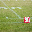 Football field 30 twenty yard line marke — Stock Photo #33725003