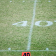 Football field 40 twenty yard line marke — Stock Photo