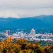 View of roanoke city from blue ridge parkway — Stock Photo