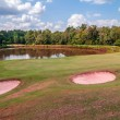 Golf course beautiful landscape on sunny day — Zdjęcie stockowe #33729701