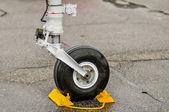 Airplane wheels — Stock Photo
