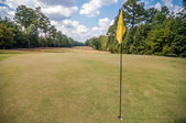 Hole flag at a golf course — Stock Photo