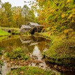 Virginia's Mabry Mill on the Blue Ridge Parkway in the Autumn se — Stock Photo