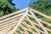 New roof construction — Zdjęcie stockowe