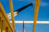 Crane at construction site — Stock Photo
