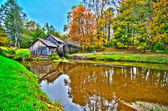 Virginia's Mabry Mill on the Blue Ridge Parkway in the Autumn se — Photo