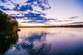 Sunset at lake wylie — Stock Photo
