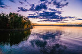 Sunset at lake wylie — Stockfoto