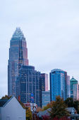 Charlotte city skyline at night — Stock Photo