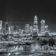 Stock Photo: City of gold charlotte north carolina