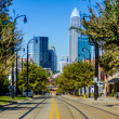 Stock Photo: Charlotte city skyline autumn season
