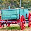 Stock Photo: Hay rides trailer