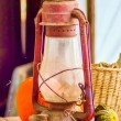 Rustic old oil lantern — Stock Photo