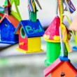 Little colorful bird houses — Stock Photo