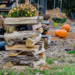 Stock Photo: Stack of firewood ready for fireplace