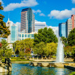 Skyline of a modern city - charlotte, north carolina, usa — Stock Photo