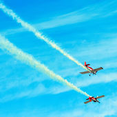 Action in the sky during an airshow — Foto de Stock
