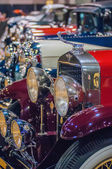 Cars on display at an autoshow — Foto Stock