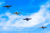 Action in the sky during an airshow — ストック写真