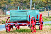 Hay rides trailer — Stock Photo