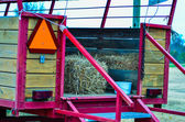 Hay rides trailer — Photo