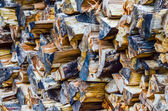 Stack of firewood ready for fireplace — Foto de Stock