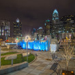 Charlotte city skyline — Stock Photo