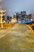 Skyline de cidade de charlotte — Foto Stock